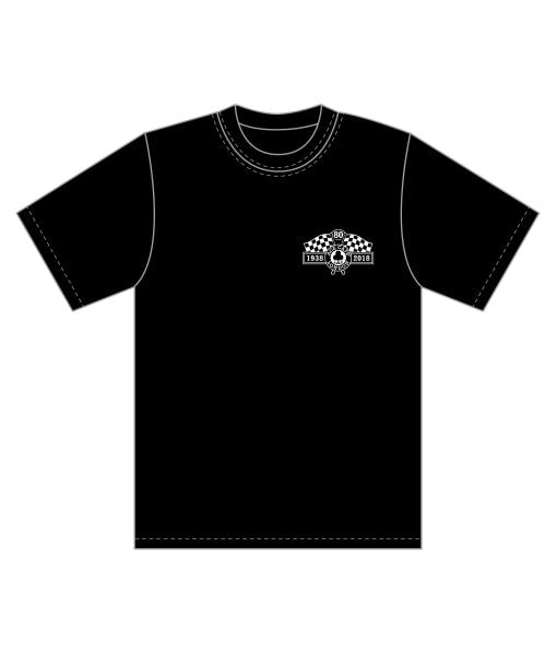 80th Tee Black Front