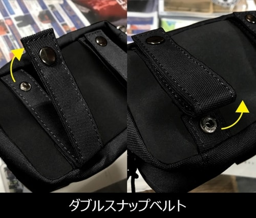 Belt & Hand Pouch ダブルスナップ