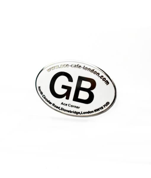 Great Britain Badge angle shot