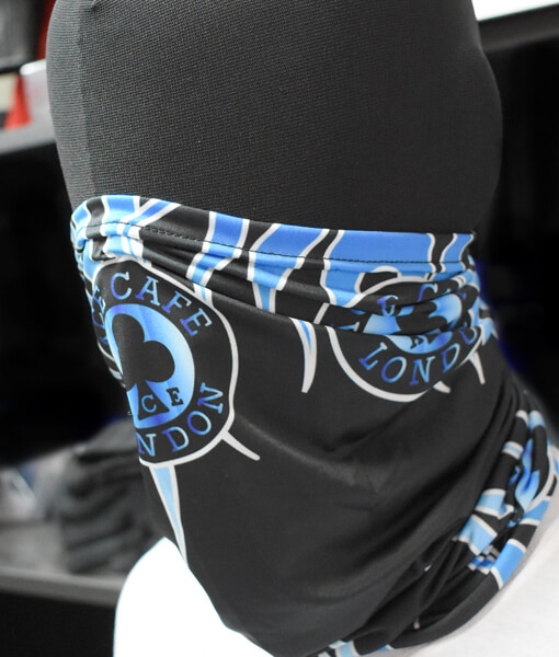 Blue Flame Neck Tube front
