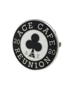 Reunion 2020 badge angle shot