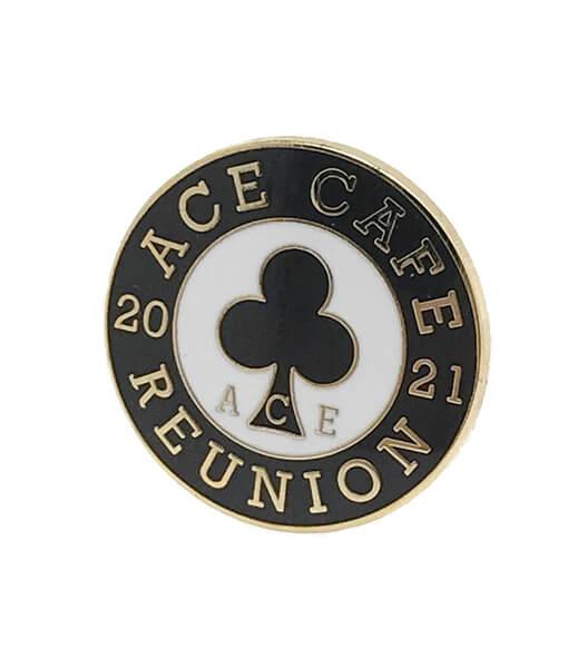 Reunion 2021 badge angle shot